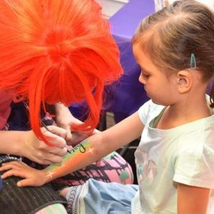 Free Face Painting or Arm designs at Madfun Kids Disco Melbourne